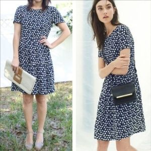 J. CREW Tiered Dress Blurred Floral {HH10}